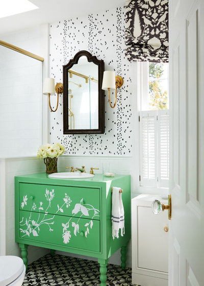 Transitional Bathroom by Susan Nelson Interiors