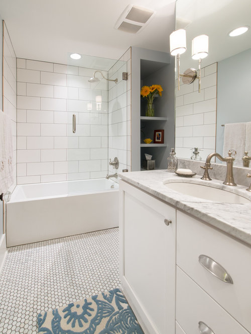 New White Tile Bathrooms