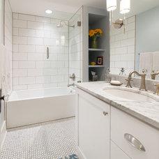 Transitional Bathroom by HighCraft Builders