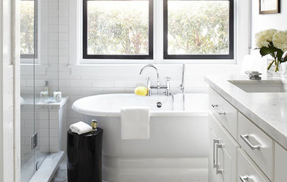 Bath of the Week: Black, White and Classic, With Some Twists