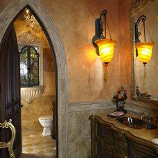 Mediterranean Bathroom by Alvarez Homes