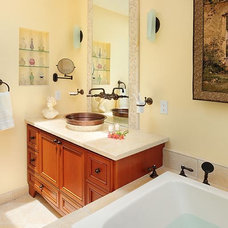 eclectic bathroom by Susan M. Davis