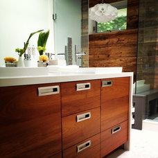 Contemporary Bathroom by Cercan Tile Inc.