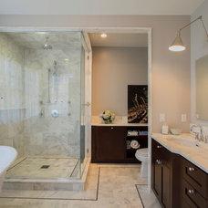 Transitional Bathroom by DaCruz Segal Architecture llc