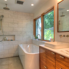 Midcentury Bathroom by Foley Development