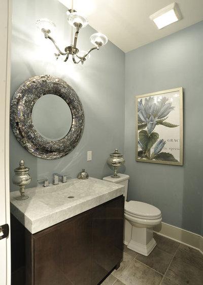 Trend alert mercury glass buffs up decor for Bathroom decor list