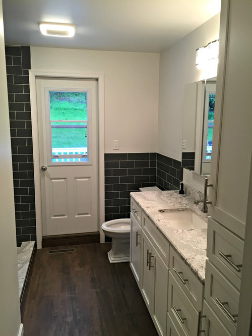 Small galley bathroom ideas houzz for Galley style bathroom