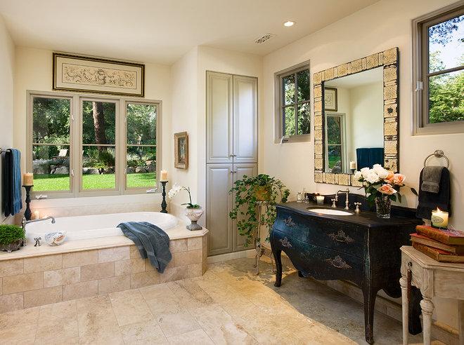 Mediterranean Bathroom by J. Grant Design Studio