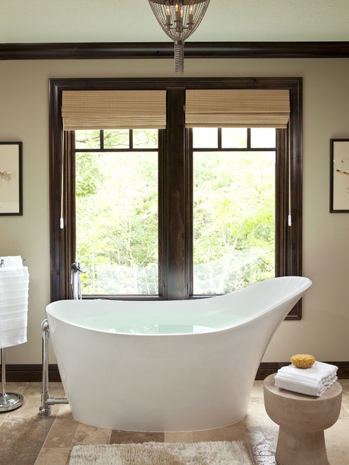 Example Of A Transitional Freestanding Bathtub Design In Minneapolis
