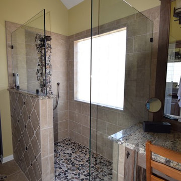 Omit the tub, expand the shower