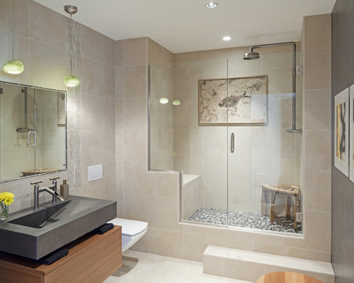 No step shower ideas pictures remodel and decor for Steps to remodel bathroom