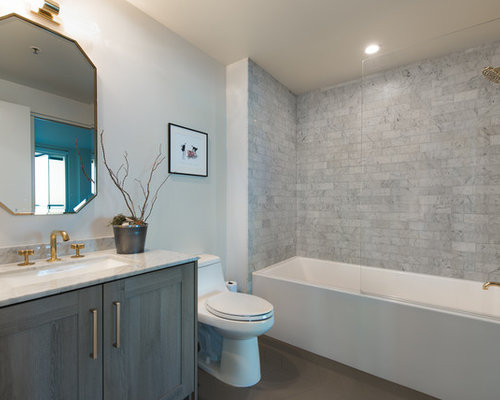 5 Phenomenal Bathroom Tile Combinations: Tub/Shower Combo Design Ideas, Remodels & Photos With A