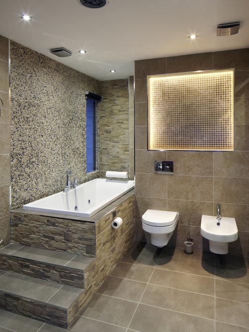 rectangular facade bathroom design ideas renovations photos