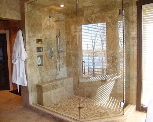 emejing salle de bain travertin moderne images awesome