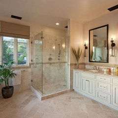mediterranean bathroom by Pacific Architects, Inc.