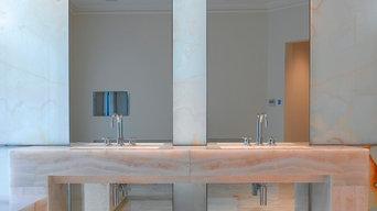 Onyx bathroom -private residence
