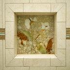 Stone Garden Path Mosaic Contemporary Exterior