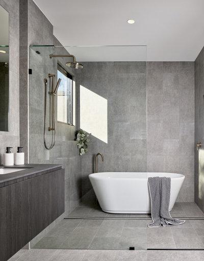 Minimalistisch Badezimmer by Joe Adsett Architects Pty Ltd