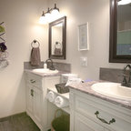 Black and white bathroom modern bathroom minneapolis for Bathroom decor and tiles midland