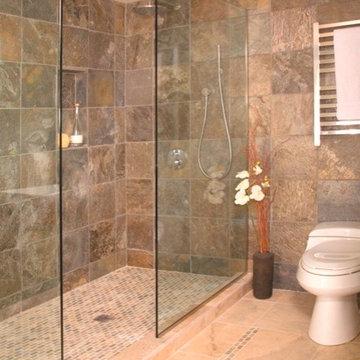 Open shower without door