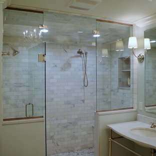 Open Vanity & Steam Shower Bathroom