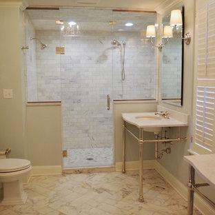 Open Vanity & Steam Shower Bathroom