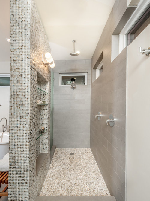 Best walk through shower design ideas remodel pictures for Walk through shower plans