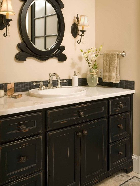 distressed vanity | houzz