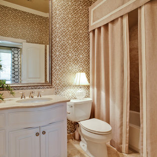Inspiration For A Timeless Bathroom Remodel In Dallas With An Undermount Sink Raised Panel