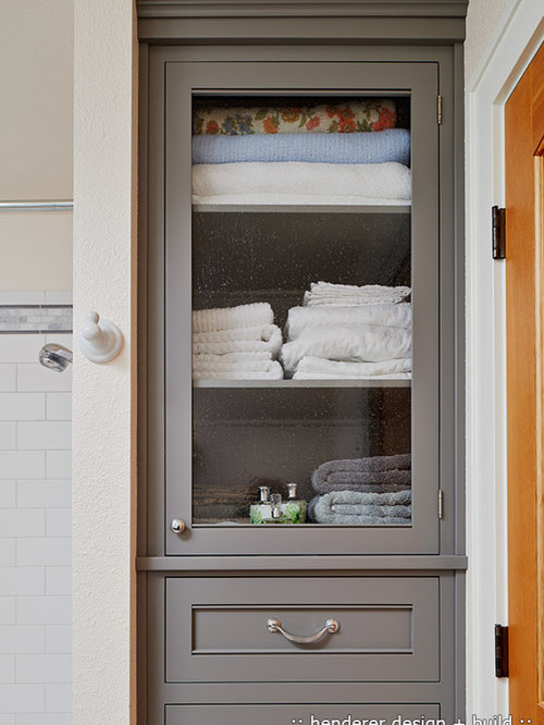 Built In Linen Cabinet Houzz
