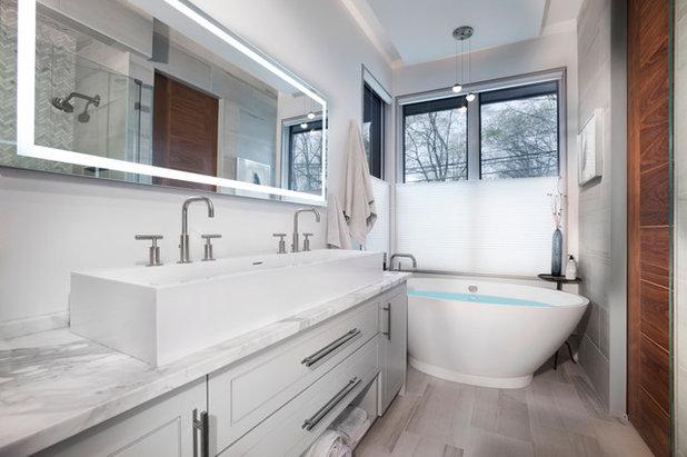 Contemporary Bathroom by Living Stone Design + Build