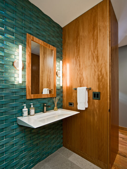 Teal Wall Tile Home Design Ideas Renovations Photos