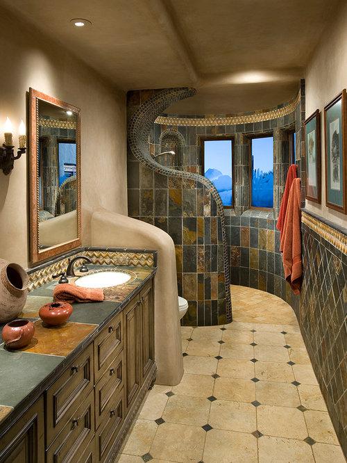 Southwestern Bathroom Ideas, Designs & Remodel Photos | Houzz