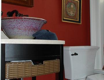Oriental Flair Powder Room