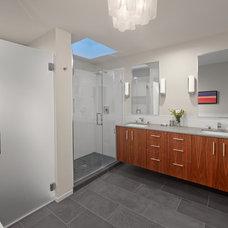 Contemporary Bathroom by Blueline Custom Builders