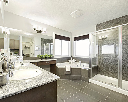 Calgary Bathroom Design Ideas Renovations Photos With A Corner Bath
