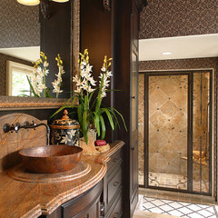 mediterranean bathroom by Busby Cabinets