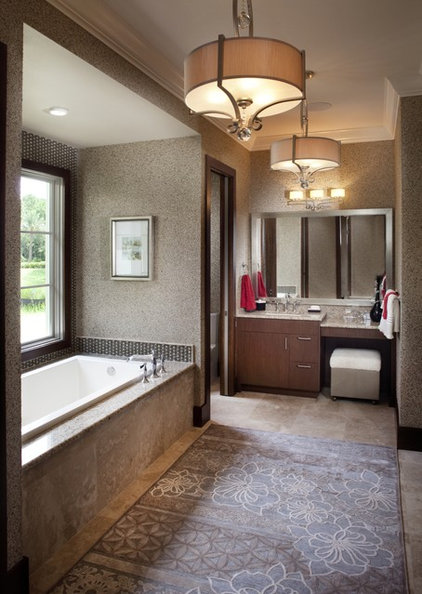 Asian Bathroom by Busby Cabinets