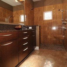 Modern Bathroom by NWC Construction