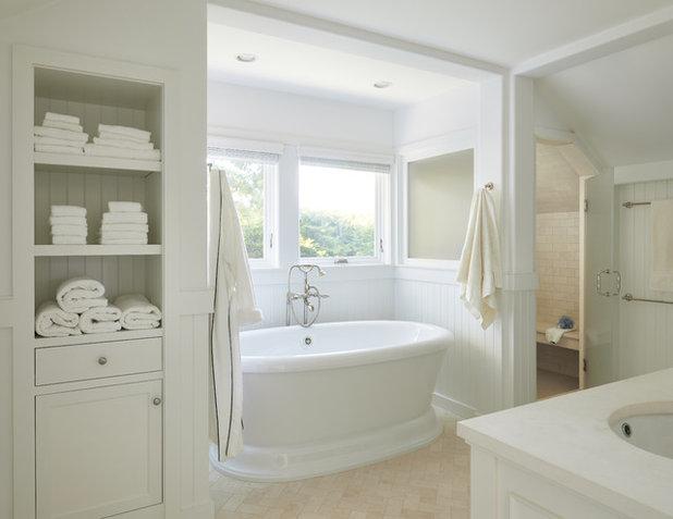 Coastal Bathroom by Oak Hill Architects