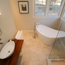Contemporary Bathroom by REEF Cape Cod's Home Builder