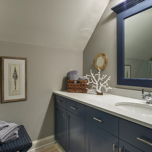 Inspiration for a beach style bathroom remodel in Minneapolis