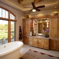Rustic Bathroom by Harvest House Craftsmen