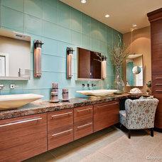 Eclectic Bathroom by DeWils Custom Cabinetry