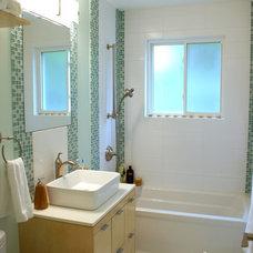 Contemporary Bathroom Our mini in home spa