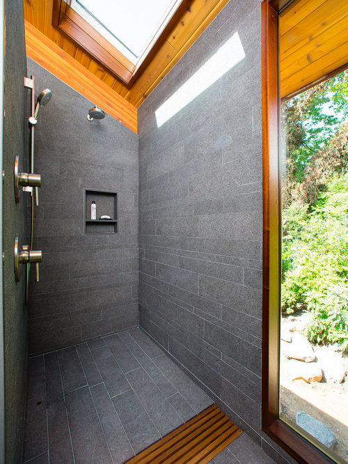 shower without glass houzz