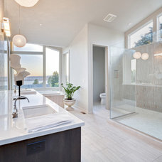 contemporary bathroom by Axiom Luxury Homes