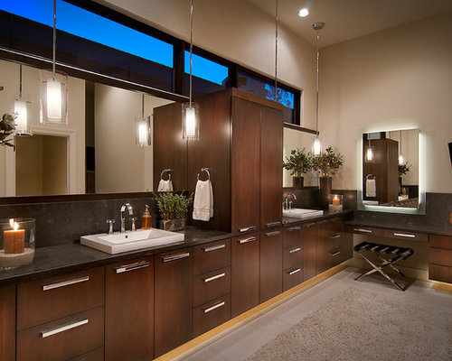 pendant lighting for bathrooms. contemporary bathroom idea in phoenix with a vessel sink pendant lighting for bathrooms