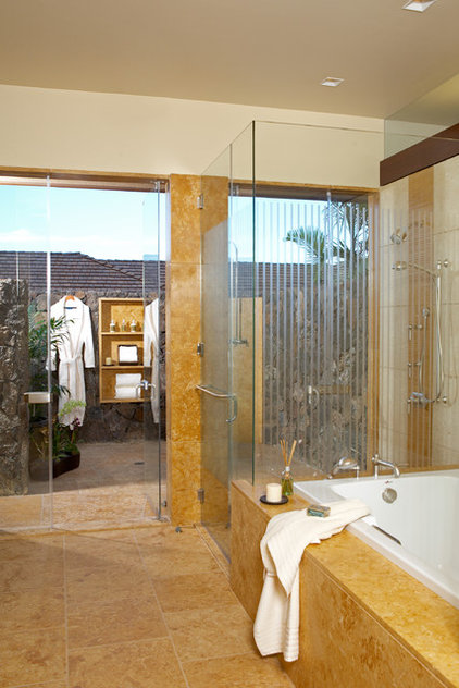 Tropical Bathroom by Ownby Design