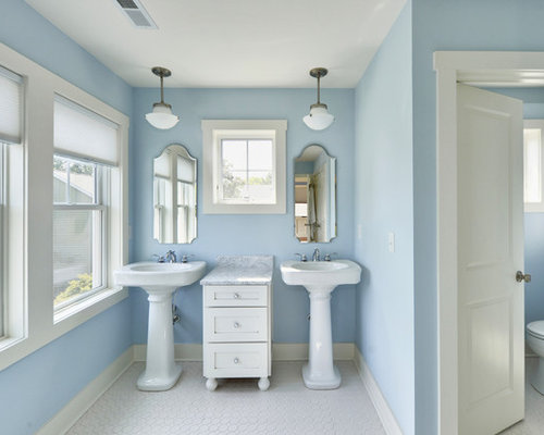 Exceptional Inspiration For A Timeless Bathroom Remodel In Philadelphia With A Pedestal  Sink Photo